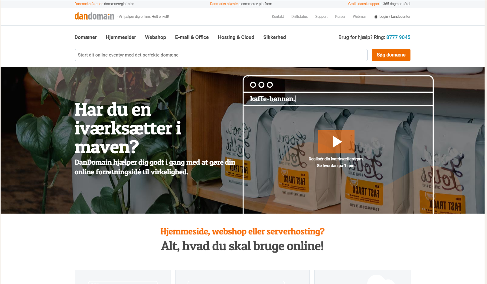 Dandomain webshop og hosting udbyder
